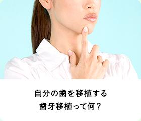 自分の歯を移植する歯牙移植って何?